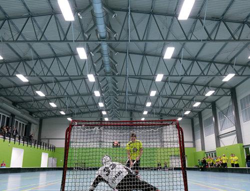 Moderní florbalovou halu v Kobylisích si pochvalovali i vítězové loňského mistrovství světa