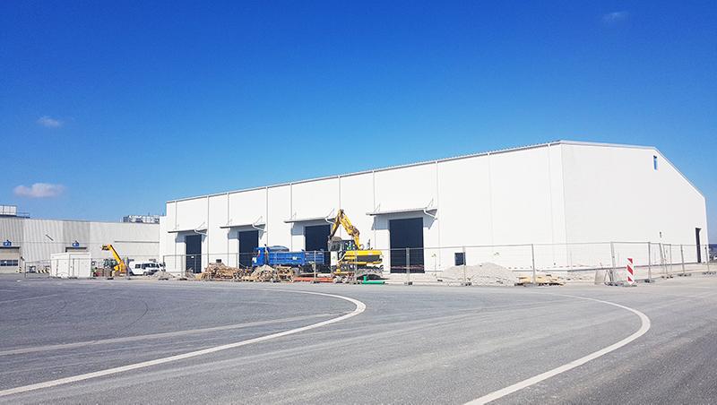 CZ1349 TPCA WELDING WAREHOUSE TENT – sklad svařovny (Kolín, dokončeno 25. května 2020)
