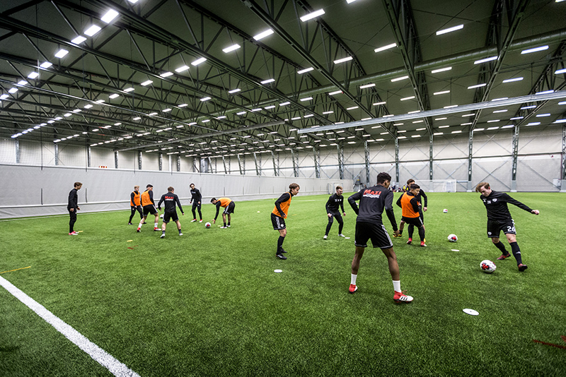 Football hall in Solentuna (project SE1003)