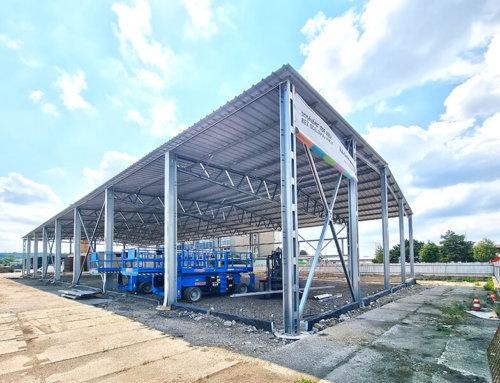 Nové ocelové haly stavíme také od června