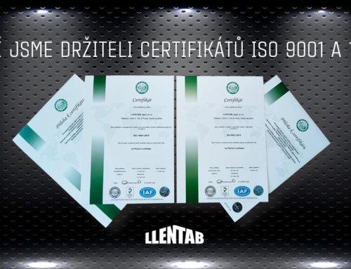 LLENTAB úspěšně prošel certifikací environmentálního managementu a managementu kvality