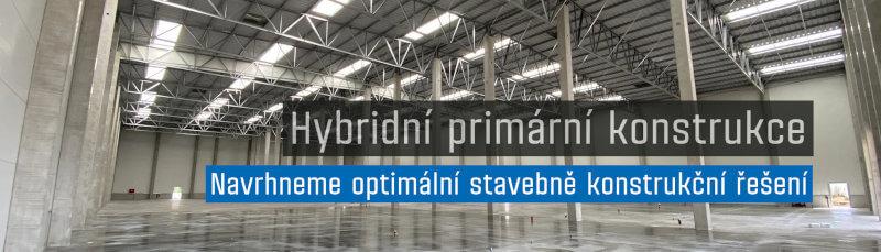 Slider hybridní primární konstrukce hal LLENTAB