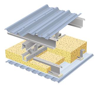 Nadstropní izolace střechy LLENTAB, typ 2F
